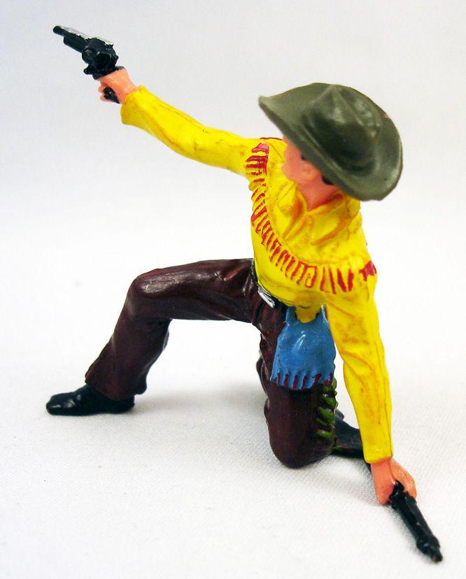 elastolin___cow_boys___pieton_a_genoux_fusil_au_sol_tire_pistolet_jaune___marron_neuf_en_boite__2_