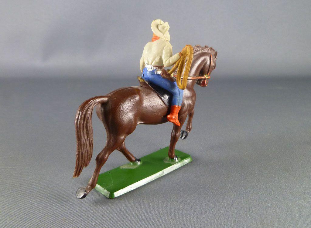starlux___cow_boys___serie_61_ordinaire___cavalier_lasso_creme__bleu_cheval_brun_trot_ref_412_3