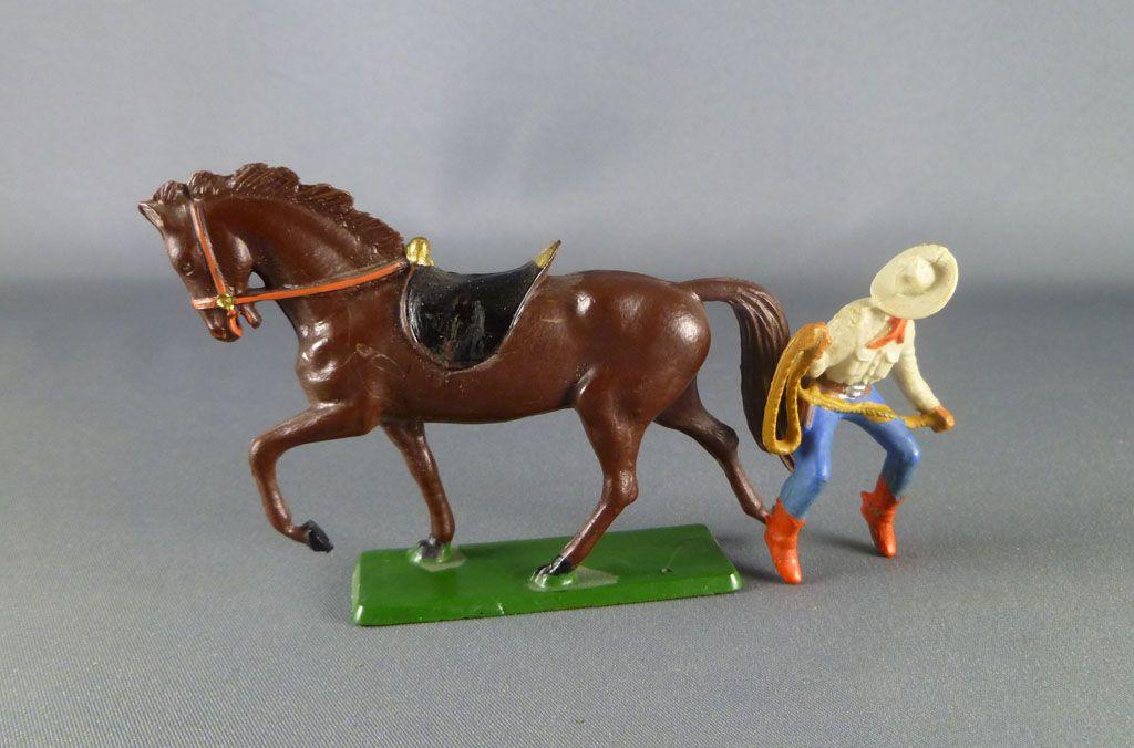 starlux___cow_boys___serie_61_ordinaire___cavalier_lasso_creme__bleu_cheval_brun_trot_ref_412_4