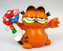 Garfield - Figurine PVC Bully - Garfield avec fleurs