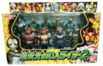 10 Masked Riders Collector Set - 5\\\'\\\' Action Figures - Bandai