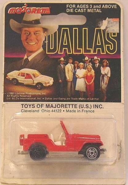 Dallas - Jeep - Majorette 1/64�me neuve en blister