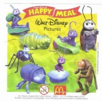 A bug\'s Life - Set of 8 McDonald Happy Meal figures
