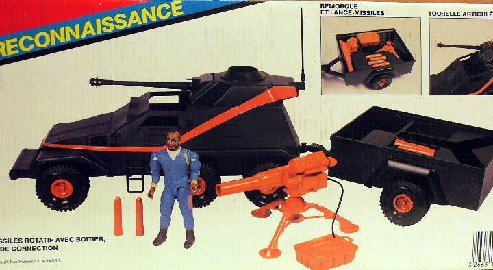 A-Team - Galoob Mint in box vehicule - Scoot  Armored Vehicle with B.A Baracus