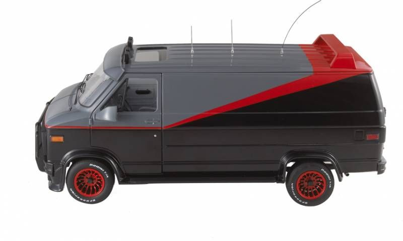 a team mattel hot wheels elite barracus 39 gmc van 1 18. Black Bedroom Furniture Sets. Home Design Ideas