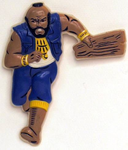A-Team - Merchandising 3D Button -- Mr T - B.A. Baracus