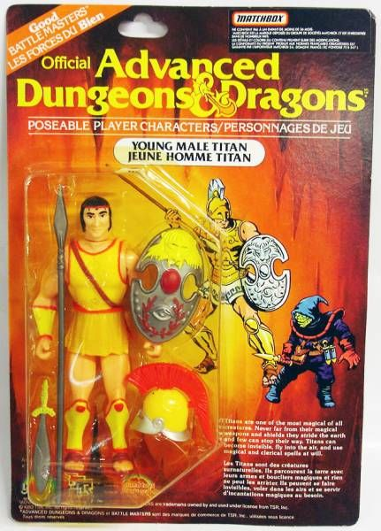 Advanced Dungeons & Dragons - LJN - Young Male Titan (Canada card)