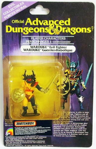 Advanced Dungeons & Dragons - LJN Miniature - Warduke (Canada card)