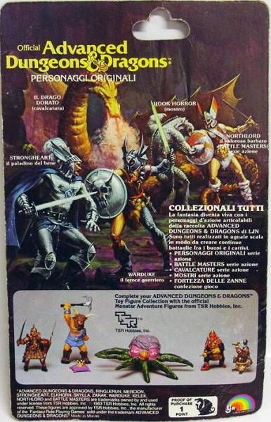 Advanced Dungeons & Dragons - LJN Miniature - Warduke (Italycard