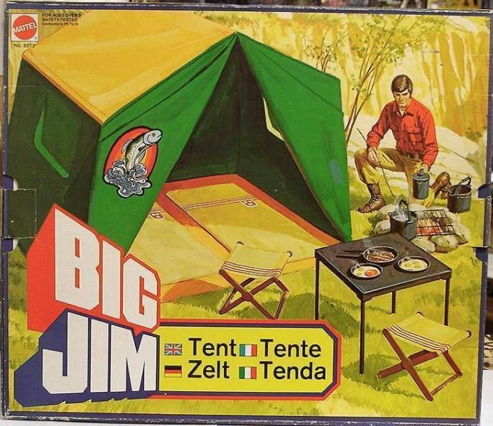 Adventure series - Mint in box Big Jim\'s Tent (ref.8873)