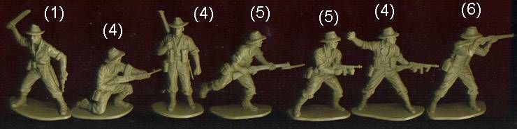 Airfix 1/32 WW2 Australian Infantry 1976 color box