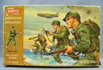 Airfix 32° WW2 Américain Infanterie américaine (Boite marron 1970) Complète 29 pièces
