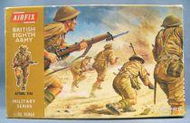 Airfix 32° WW2 Anglais 8ème armée (Boite marron 1972) Complète 29 pièces