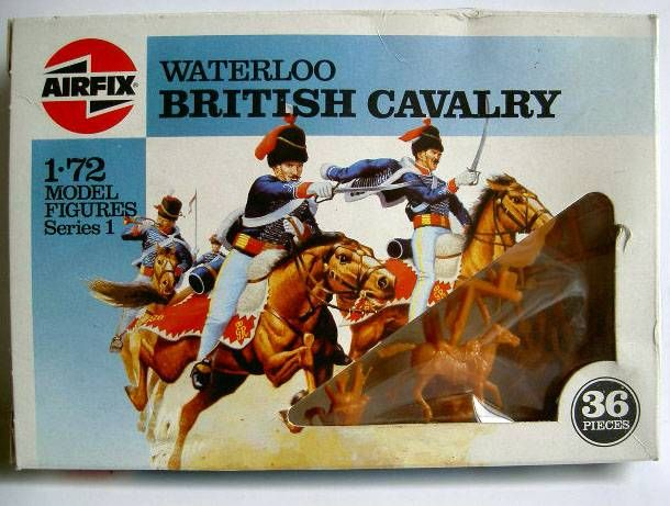 Airfix 72°  Waterloo British Cavalry (Hussars) S43 type6 Box (Mint)