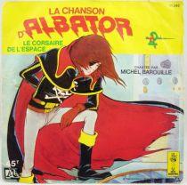 Albator - Disque 45T- La Chanson d Albator Michel Barouille - Disque Ades  Le Petit Menestrel 1979
