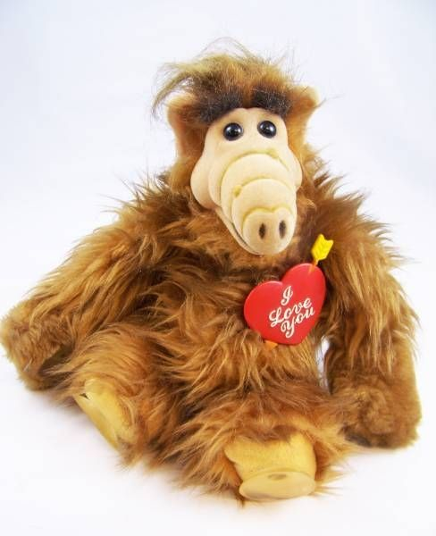 ALF - 10 inches Bully Plush with suction cups - I Love You