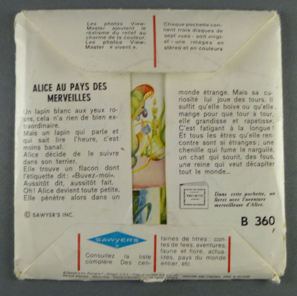 Alice\'s Adventures in Wonderland - Set of 3 discs View Master 3-D