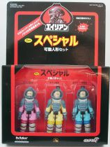 Alien - ReAction - Nostromo Crew action-figure set : Dallas, Kane, Lambert (Boitage Japon)