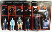 Alien - ReAction - Set de 5 action figures : Ripley, Kane, Ash, Dallas, The Alien