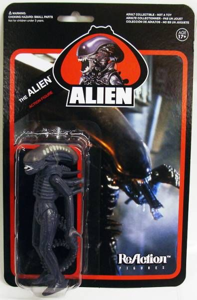 Alien - ReAction - Set of 5 figures : Ripley, Ash, Dallas, Kane & the Alien