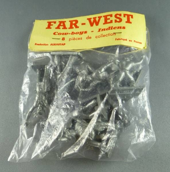 Alkastap Far West Sachet de 8 Figurine Publicitaire Café Legal