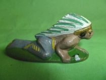 (Aluminium) - Wild West - Indian crawling with tomahawk
