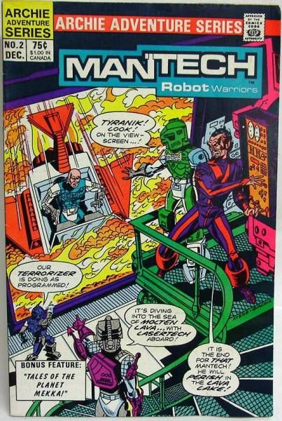 Archie Adventure Series Comics - Mantech Robot Warriors #2