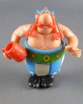 Asterix - Kinder Surprise Ferrero 1990 - K91 N7 Swoppet Figure - Obelix with Glass