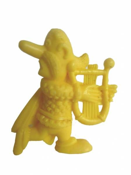 Asterix - Uni Lever (Malabar/Motta) 1980-84 - Monochromic Figure - Troubadix (Yellow)