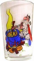 Asterix Mustard glass Amora - Panoramix prepares the potion