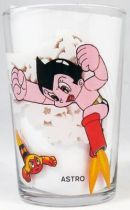 Astro Boy - Amora Mustard glass (Astro Boy fighting / Urania with butterflies)