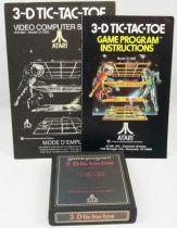 Atari 2600 - 3-D tic-tac-toe (cartouche + notice)
