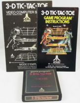 Atari 2600 - 3-D tic-tac-toe (cartridge + instructions)