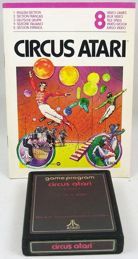 Atari 2600 - Circus Atari (cartouche + notice)