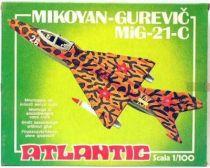 Atlantic 1:100 454 Mikoyan-Gurevic Mig-21-C