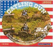 Atlantic 1:32 Wild West 1218 Gatling Gun and team limber