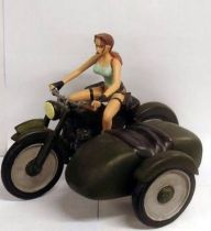 Atlas - Tomb Raider - 5\'\' statue - Lara Croft - Tomb Raider, Lara on Side-car