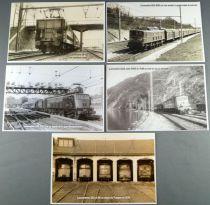 Atlas 5 Cartes Postales Sncf Locomotives Electrique BB-115 2D2 2CC2 Dépot Rotonde Neuves