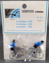 Avespace - 2 Cyclistes Métal Maillot Bleu 1/50 Neuf Blister