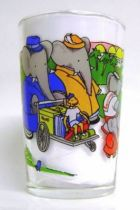 Babar - Amora Mustard Glass - Babar and its family leave on a journey