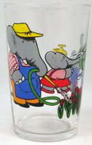 Babar - Amora Mustard Glass - Babar and kids in the garden