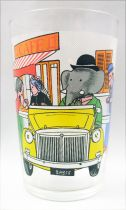 Babar - Amora Mustard Glass - Babar and the Old Lady in car