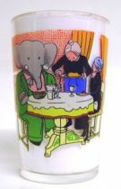 Babar - Amora Mustard Glass - Babar and the old woman lunches together