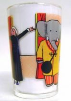Babar - Amora Mustard Glass - Babar and the old woman makes exercise