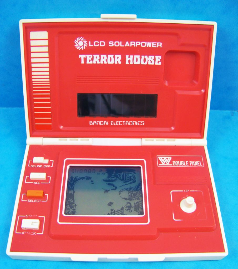 Bandai Electronics Lcd Solarpower Game Terror House