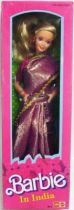 Barbie in India (Checked Shimmery Sari) - LEO Mattel 1993 (ref. 9910)
