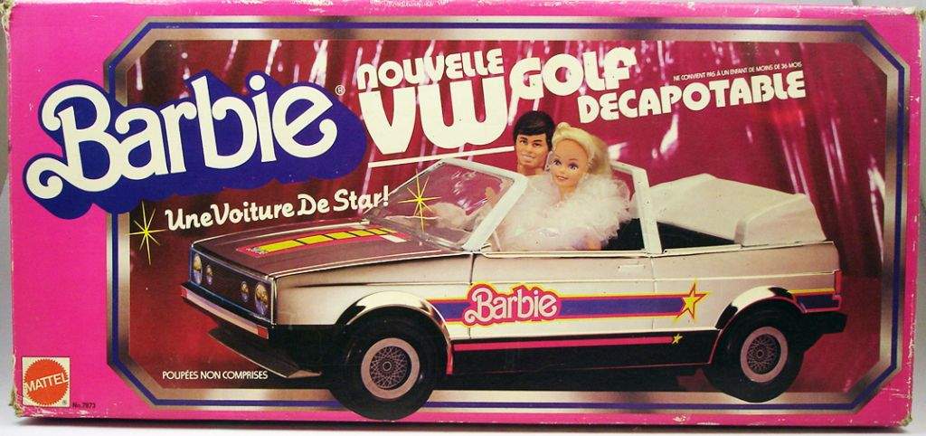 barbie new vw golf cabriolet mattel 1984. Black Bedroom Furniture Sets. Home Design Ideas
