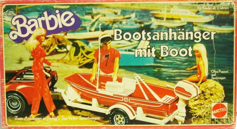 Barbie\\\'s Trailer with boat - Mattel 1979 (ref.3631)