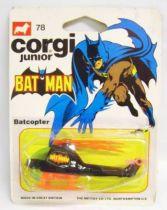 Batman - Corgi Junior Ref.78 - Batcopter (mint on card)