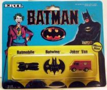 Batman The Movie - Batmobile Batwing Joker Van micro size - ERTL